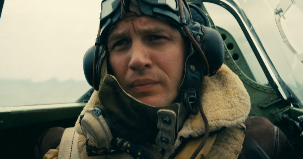 Tom Hardy in Dunkirk directed by Christopher Nolan