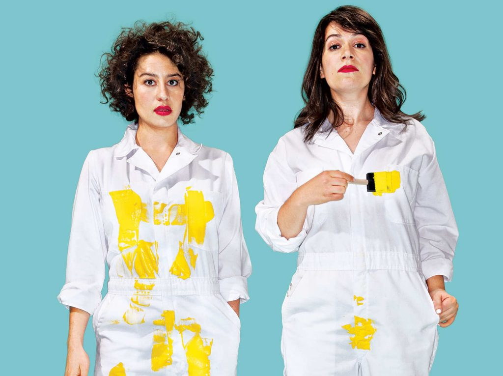image of broad city stars ilana glazer and abbi jacobson