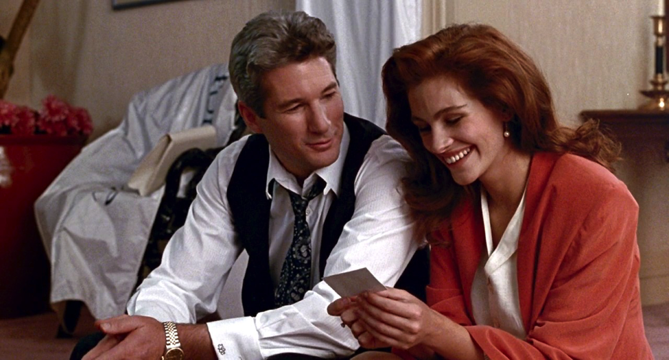Romance film Pretty Woman with Richard Gere and Julia Roberts