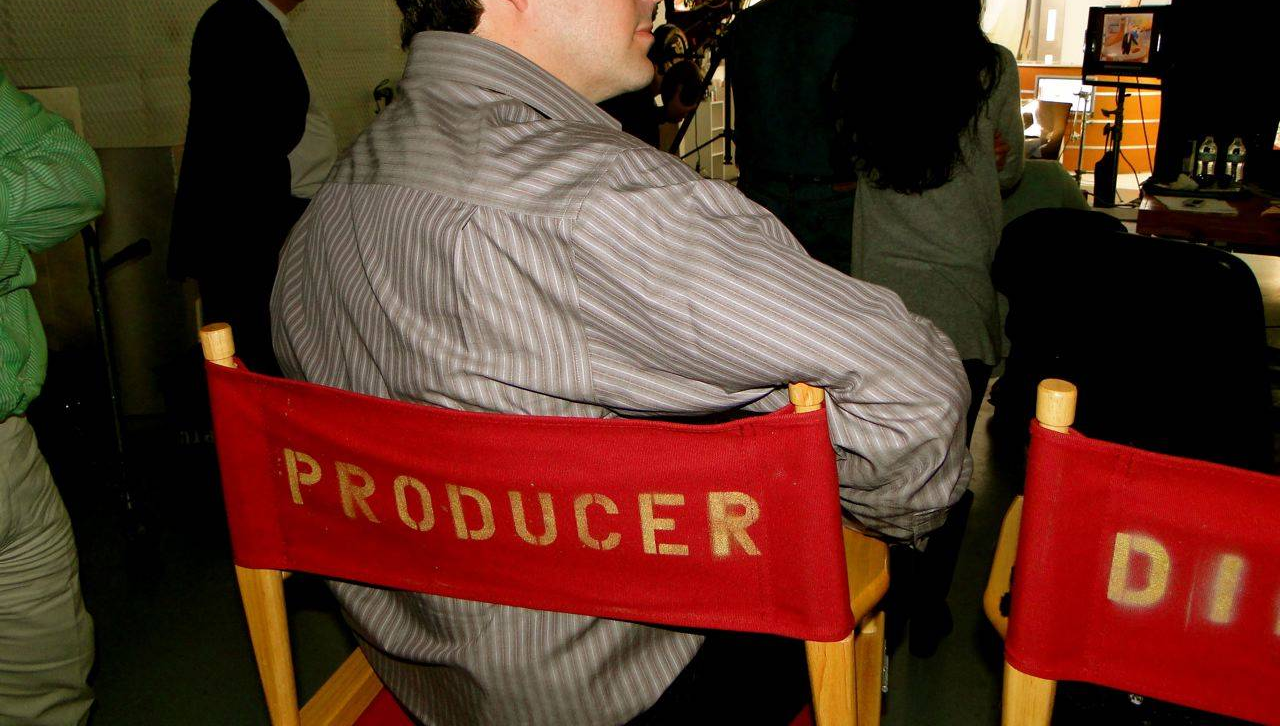 producer on movie set