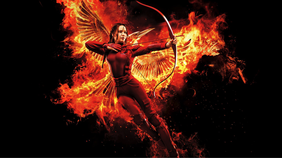 katniss everdeen in the film adaptation of the hunger games mockingjay