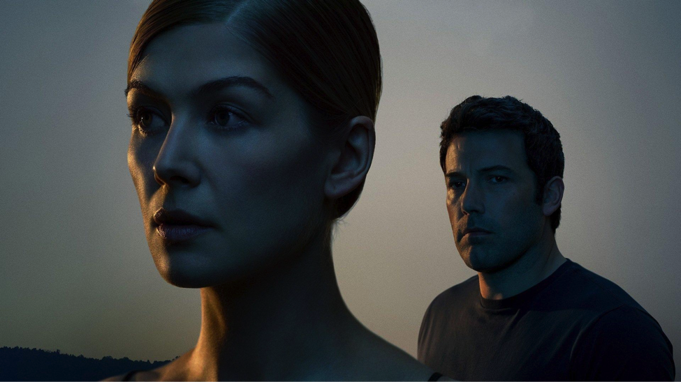 rosamund pike and ben affleck in the film adaptation of Gone Girl