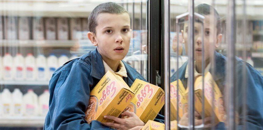 working with child actors children on set eleven stranger things eggo