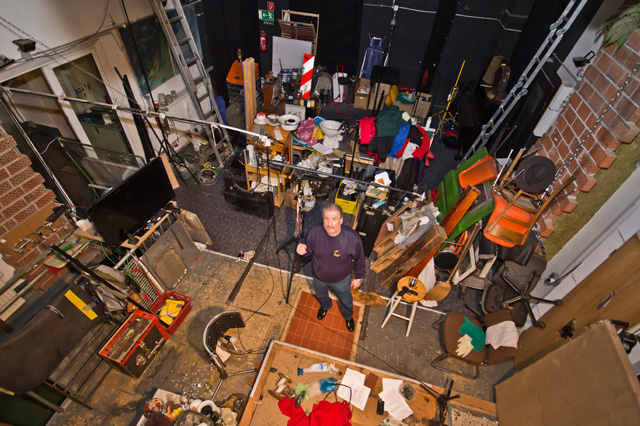 foley artist studio