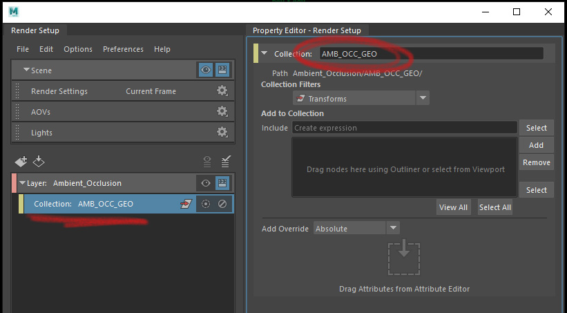 Render Layer Set Up Collections 3