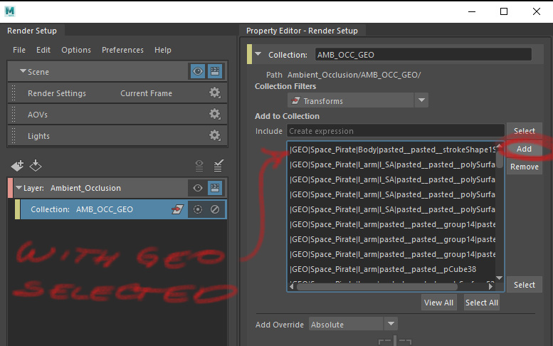 Render Layer Set Up Collections 4