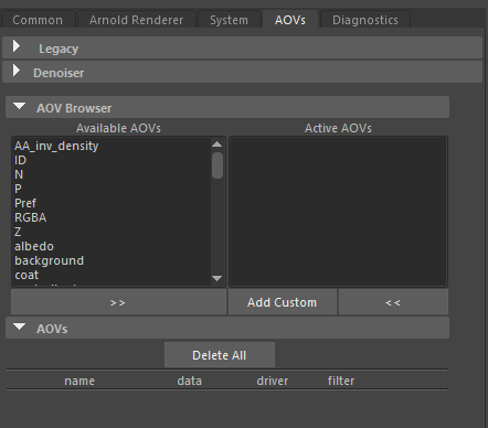 render settings 3 aov 2